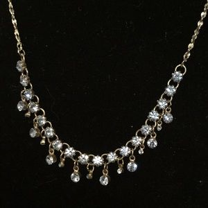 """Necklace jewelry Claire's baby blue silver 15"""""""